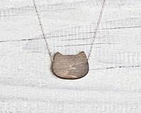 Кулон ручной работы Кот серый, фото 1
