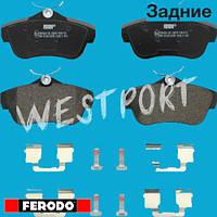 Тормозные колодки Ferodo Peugeot EXPERT Citroen JUMPY Задние Дисковые Без датчика износа FVR1772