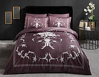 Комплект постельного белья 200х220 TAC DELUX-SATIN CASTIEL V01 фиолетовый