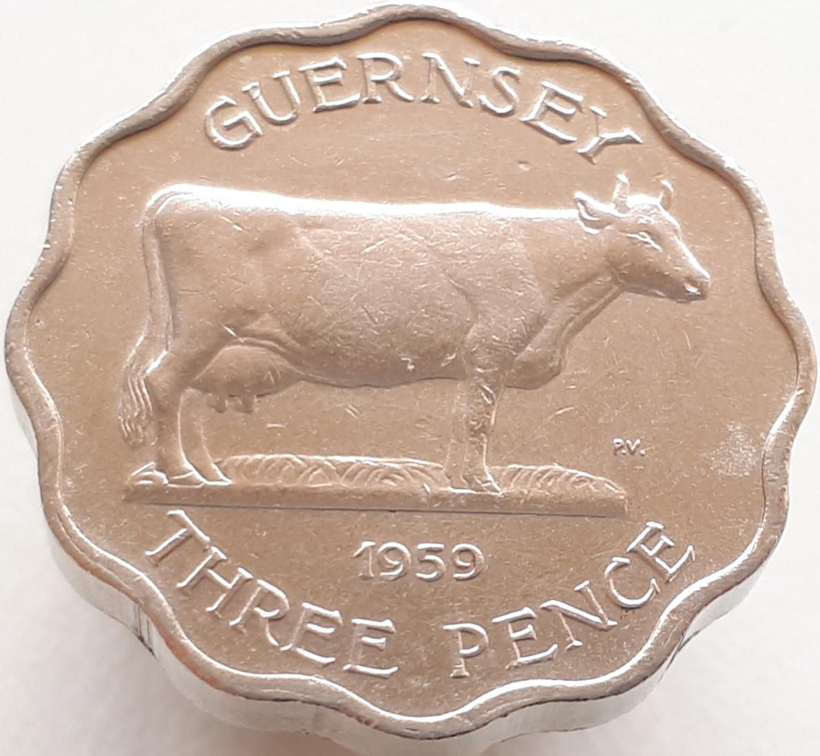 Гернси 3 пенса 1959