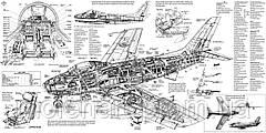 Чертеж самолета. Истребитель F86