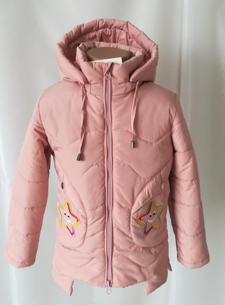 Детская куртка для девочек весна-осень удлиненная 22-28