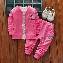 Спортивный костюм тройка с пантерой для девочки, фото 2