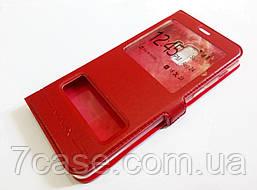 Чехол книжка с окошками momax для Samsung Galaxy A8 Plus A730f (2018) красный