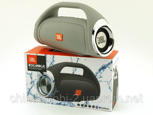 JBL Boombox mini 8W копия, k836 889 портативная колонка с Bluetooth FM MP3, серая, фото 2