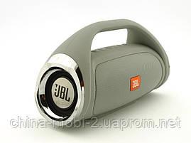 JBL Boombox mini 8W копия, k836 889 портативная колонка с Bluetooth FM MP3, серая, фото 3