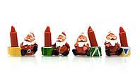 Дед мороз со свечкой (1 шт)(4х4,5х2 см)