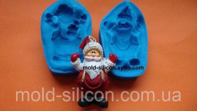 "Силиконовый молд 3Д ""Санта клаус"""