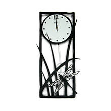 Часы-декор настенные в металлическом корпусе Стрекоза