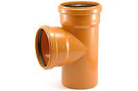 Тройник ПВХ   90* 110 х 110 х 110  наружнняя канализация