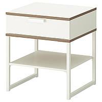 IKEA TRYSIL Прикроватная тумба, белый, светло-серый  (302.360.25)