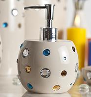 Дозатор для жидкого мыла бежевый серия Миси, фото 1