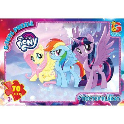 """Пазли ТМ """"G-Toys"""" із серії """"My little Pony"""" Моя маленька поні, 70 елементів MLP014"""