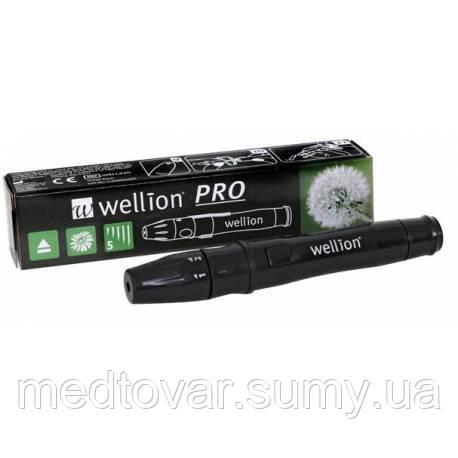 Ручка для прокалывания пальца Wellion  + ланцеты 10 штук