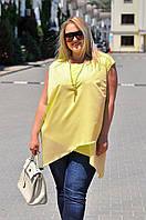 Женская блуза креп батал