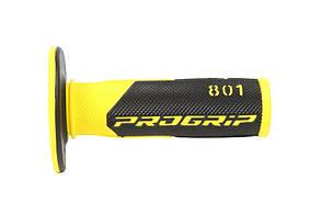 Рукоятки руля Pro Grip MX Duo density,  PG 801 BK / YL черно-желтые