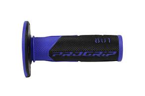 Рукоятки руля Pro Grip MX Duo density,  PG 801 BK/BL черно-синие