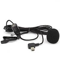 Микрофон петличный mini USB нейлоновый кабель 2 метра для GoPro Hero3/3+/4