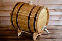Бочка дубовая 25л для вина, коньяка, пива, водки