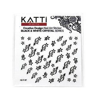 KATTi Наклейки клейкие Crystal Black/White HZ-F 07 ч/б стразы , фото 2