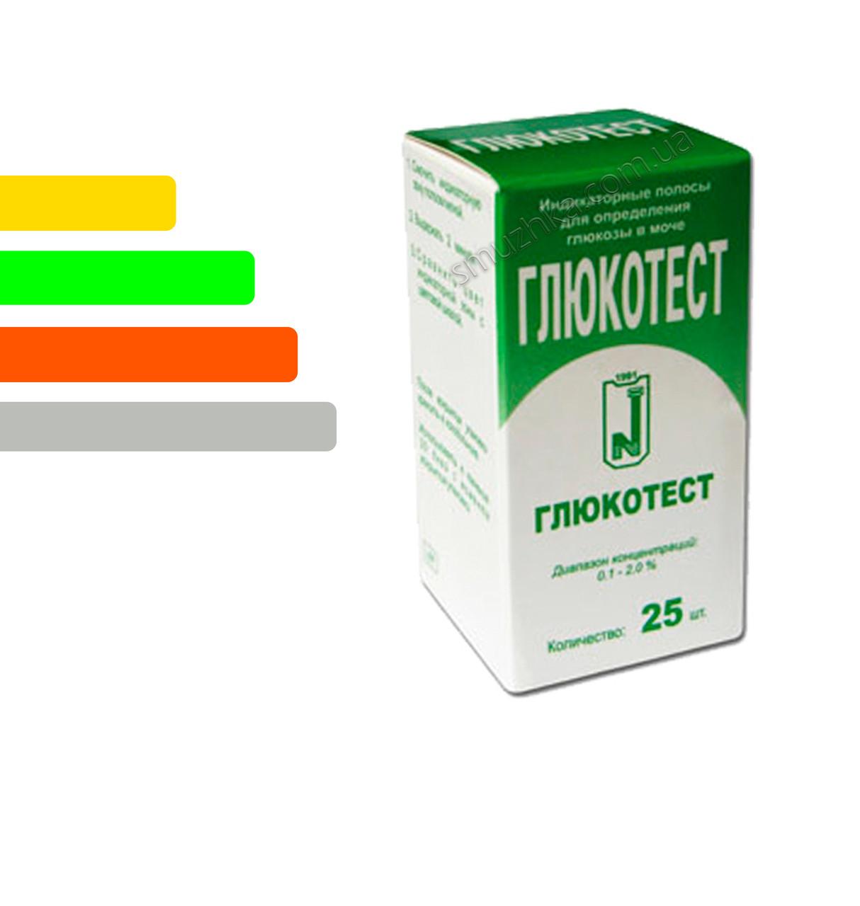 Тест полоски Глюкотест #25