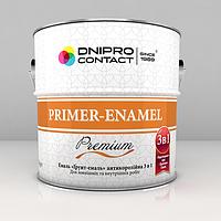 Эмаль грунт-емаль 3 в 1 0.9, светло-серый