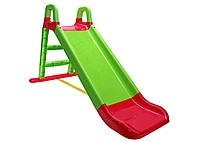 Акція! Горка детская пластиковая для дома и улицы, гірка дитяча для катання салатово-червоний