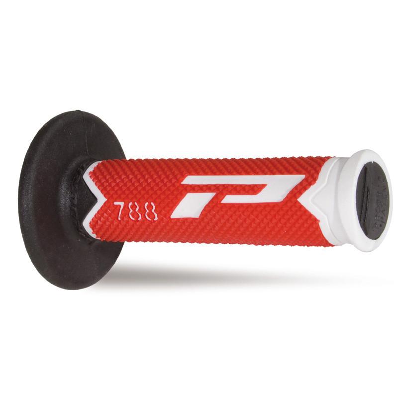 Рукоятки руля Pro Grip Triple Density Off Road Grip PG 788, бело-красные