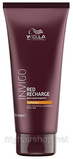 Бальзам для освежения цвета теплых красных оттенков Wella Invigo Color Recharge Warm Red Conditioner 200ml