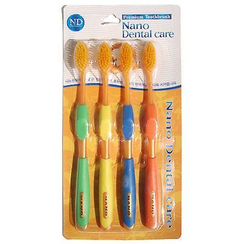 Набор зубных щеток с золотом NANO Dental Care Toothbrush Gold 4 шт