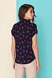 Штапельная блуза с оригинальным принтом 42-46р, фото 2