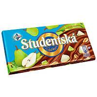 Шоколад Studentska с грушей, арахисом и кусочками мармелада 180 гр. Чехия