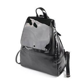 4dfb3301d796 Женский повседневный черный модный рюкзак М104-27/лак: продажа, цена ...