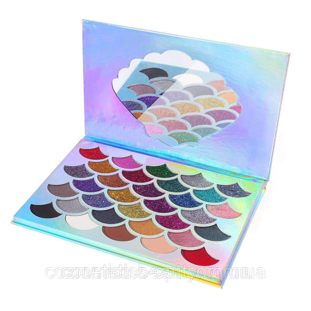 Тени-глиттеры для век Cleof Mermaid Glitter Palette eyeshadow-32 colors (реплика).