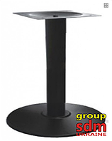 Опора для стола Ока, крашенная, цвет черный, высота 72 см, диаметр 54 см
