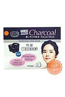 Тканевая маска для жирной и проблемной кожи. Charcoal Facial Mask.