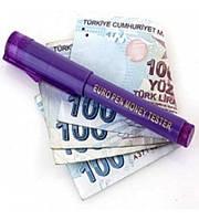 Карандаш для проверки валют Euro Pen Money Tester с фонариком, детектор валют, маркер для проверки денег