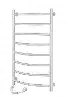 Полотенцесушители и радиаторы Navin электрический полотенцесушитель Камелия(лесенка) 450*800/8полок БЕЛЫЙ