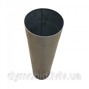 Димохідна труба 1000мм з нержавіючої сталі  AISI 304, т. 0,5 (Ǿ100)