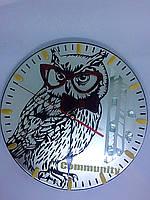 Часы сова с логотипом