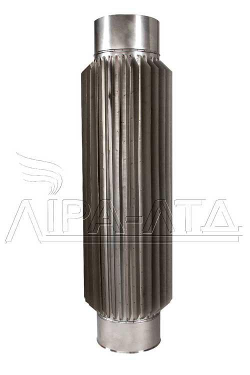 Труба-радиатор для дымохода 0,5 метра AISI 304, 321