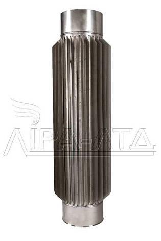 Труба-радиатор для дымохода 0,5 метра AISI 304, 321, фото 2
