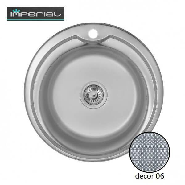 Кухонная мойка Imperial из нержавеющей стали 510-D Decor 06мм