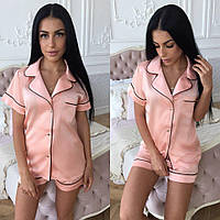 Женская роскошная шелковая пижама (расцветки)