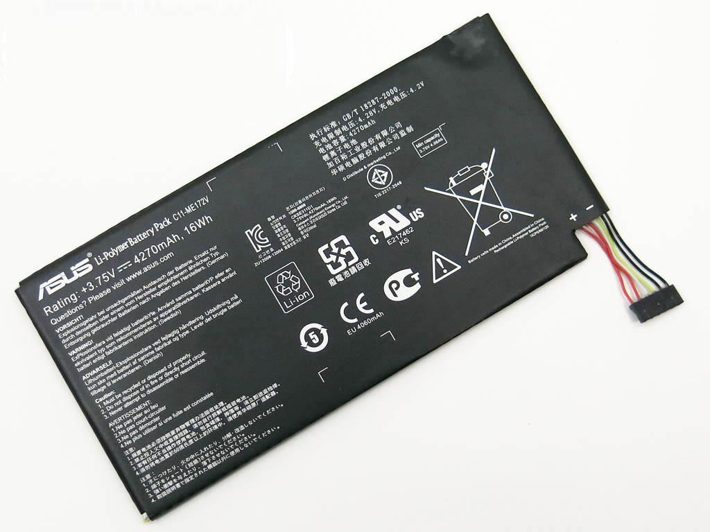Аккумулятор для планшета ASUS C11-ME172V Memo Pad ME172V Tablet PC (3.