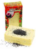 Мило-ніжний скраб органічне «Мак і Герань» 135g, фото 1