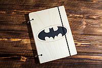 """Блокнот А5 из дерева """"Бэтмен. Batman"""""""