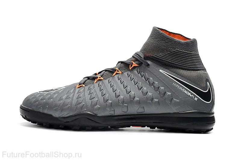 1353140f Бутсы сороконожки Nike HypervenomX Proximo TF grey/black с носком, цена 1  350 грн., купить в Харькове — Prom.ua (ID#722251684)