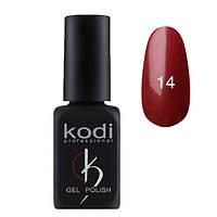 Гель-лак Kodi №14, Цвет классическое бордо с перламутром, 8 мл