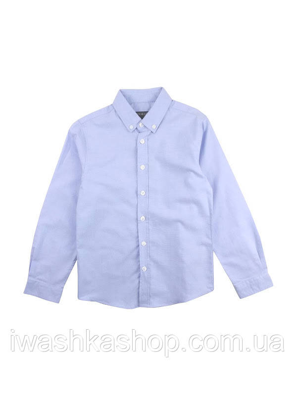 Блакитна сорочка для хлопчика Primark. 128 р.
